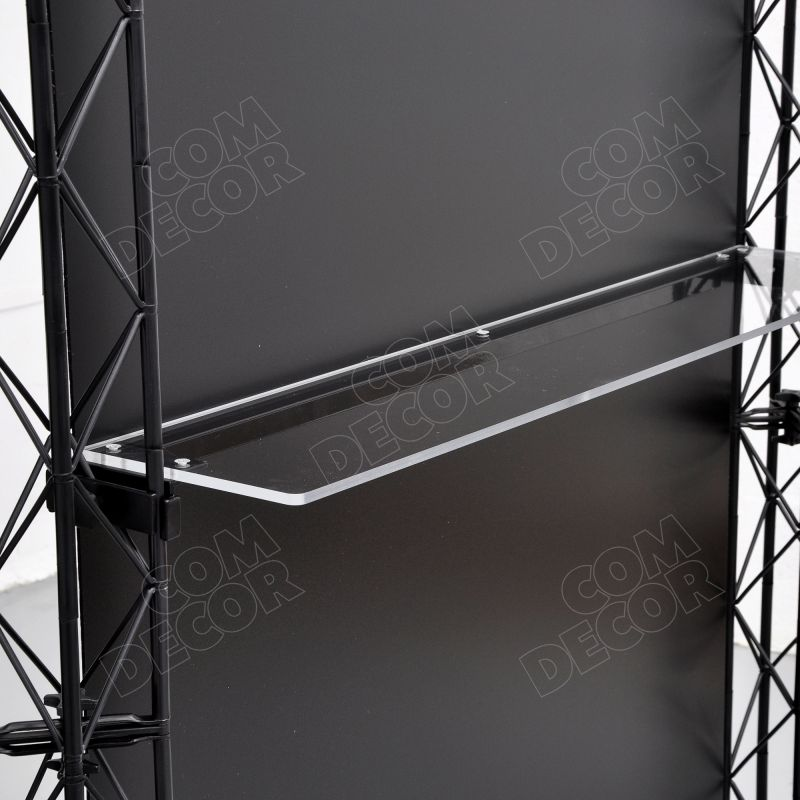 Booth shelf