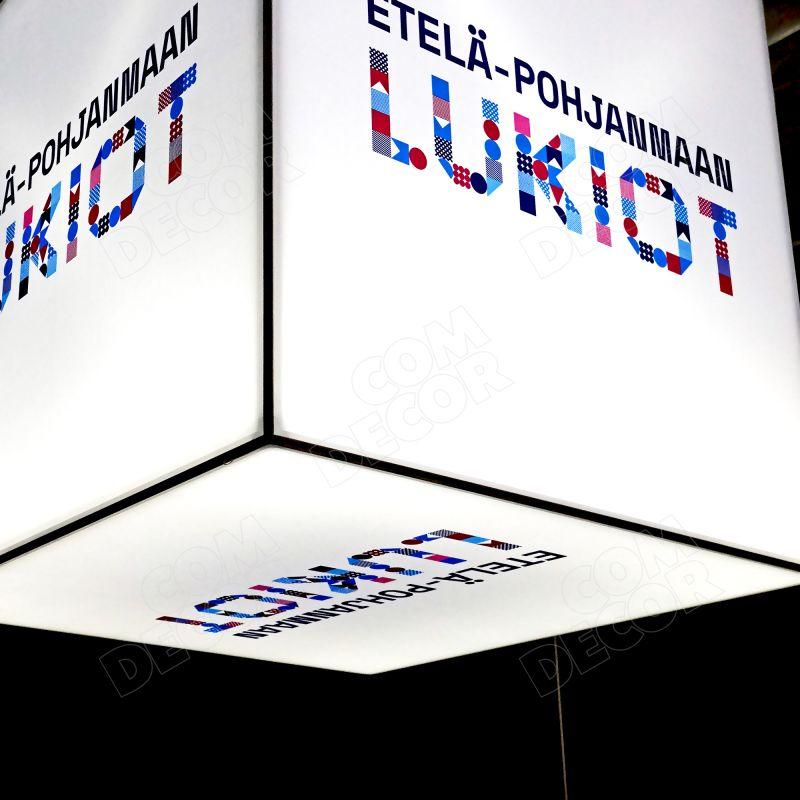 Hanging SEG illuminated advertising