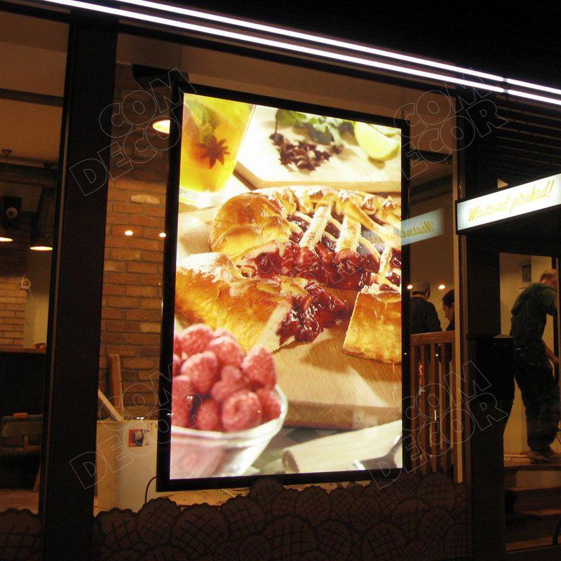 Lightbox on a shop window