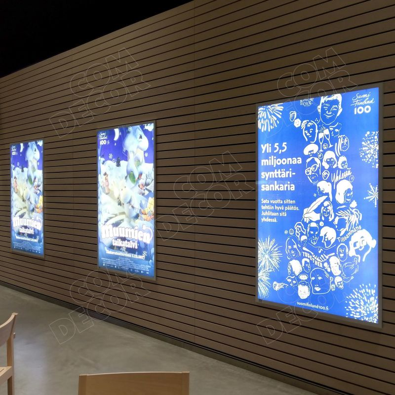 Lightboxes / illuminated advertising