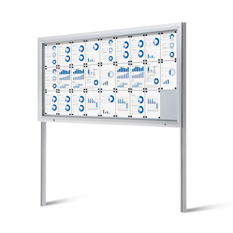Lockable outdoor notice board
