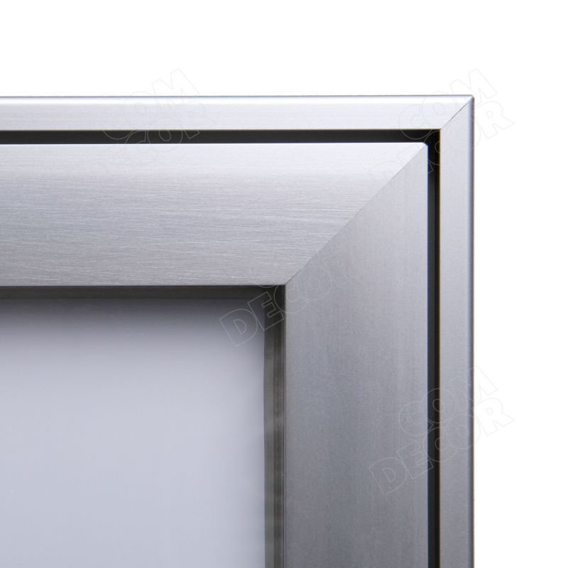 Notice board / bulletin board with glass door