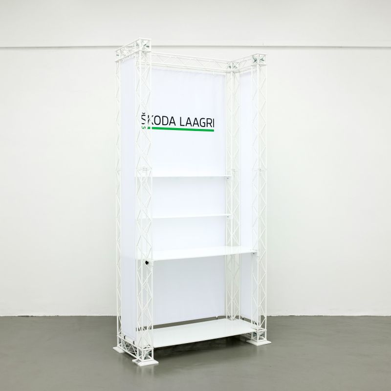 Product stand with shelves