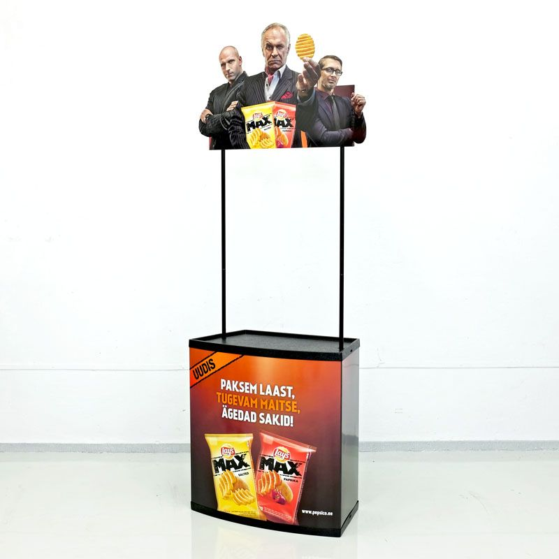 Promotional counter for tasting