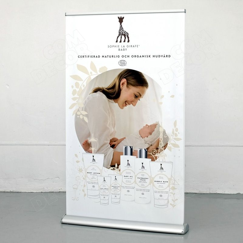 Two-sided roll up banner