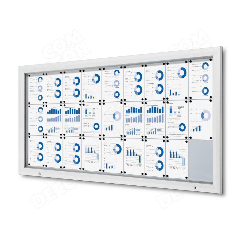 White notice board / bulletin board