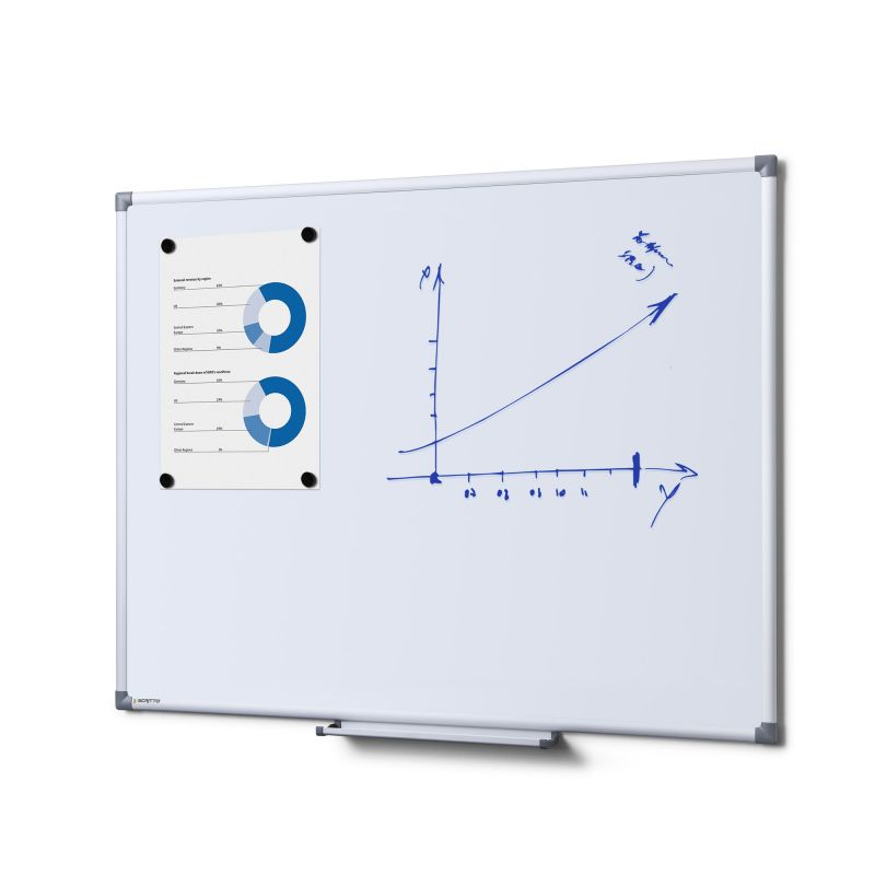 Whiteboard / magnetic board - 90x60cm